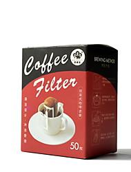 Недорогие -Мешки фильтра уха уха 50pcs, ручная фильтровальная бумага кофе, тип уха вися, капельный фильтр бумажный мешок фильтра кофе, устранимый домочадец