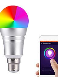 Недорогие -1шт 7 W Круглые LED лампы Умная LED лампа 700 lm E14 B22 E26 / E27 20 Светодиодные бусины Контроль APP Smart синхронизация Multi-цветы 85-265 V