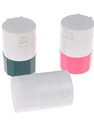 cheap -2pcs Portable Powder Tablet Grinder Powder Pill Cutter Medicine Splitter Box Storage Crusher Random Color