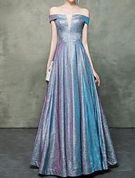 Недорогие -плиссированные блестящие минималистские платья для выпускного вечера с блестками и длиной до пола