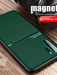 cheap -Case For Huawei HUAWEI P40 / HUAWEI P40 PRO Embossed Back Cover Lines / Waves PU Leather / TPU