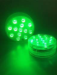 cheap -2pcs 13LEDs RGB Submersible Light Battery Operated Swimming Pool Underwater Night Lamp Vase Wedding Party Holiday Garden Celebrate