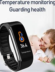 Недорогие -C6T фитнес-трекер поддержка измерения температуры / артериального давления, водонепроницаемый браслет Bluetooth с наушниками Tws для IOS / Android телефонов