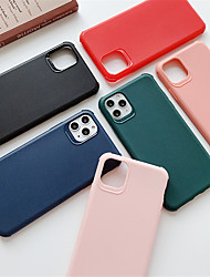 cheap -Case For Apple iPhone 11 11 Pro 11 Pro Max Litchi pattern material TPU material Solid color Four corners drop proof scratch proof phone case