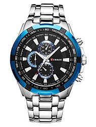 cheap -CURREN Men's Dress Watch Quartz Modern Style Stylish Casual Water Resistant / Waterproof Analog Black / Silver White+Blue Black+Gloden / One Year / Stainless Steel