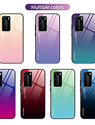 cheap -Case For Huawei P40 P40 Pro Nova 6 Nova 6SE two-color gradient pattern tempered glass back plate TPU frame two-in-one anti-fall mobile phone case JMGD