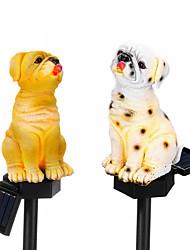 cheap -LED Solar Animal Garden Outdoor Light Puppy Dog Shape Lawn Light Garden Patio Decoration Idea IP65 Waterproof 8 Hours Intelligent Light Control 1.2V