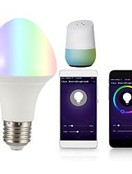 Недорогие -1шт 7 W Круглые LED лампы Умная LED лампа 700 lm B22 E26 / E27 21 Светодиодные бусины Контроль APP Smart синхронизация Multi-цветы 85-265 V