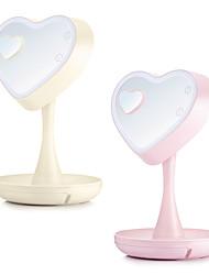 Недорогие -форма сердца из светодиодов модернизированный зеркало для макияжа свет заполняющий свет tiktok light youtube видео косметический vanitiy свет яркость регулируемый сохраняемый нижняя база creative usb