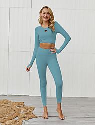 cheap -Activewear Top Gore Women's Daily Wear Running Long Sleeve Natural POLY Polester / Cotton Blend