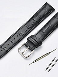 cheap -Cowhide Watch Band Black / Brown 20cm / 7.9 Inches 1.4cm / 0.55 Inches / 2cm / 0.8 Inches