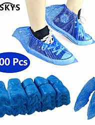 cheap -VESKYS 100Pcs Disposable Plastic Anti Slip Boot Safety Shoe Cover Cleaning  Plastic Over Shoes Shoe Boot Covers Carpet Protectors
