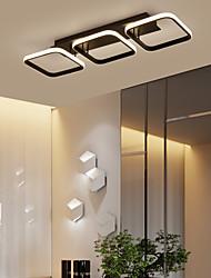 cheap -3-Light 78 cm Square Line Design Flush Mount Lights Aluminum Painted Finishes LED Modern 110-120V 220-240V