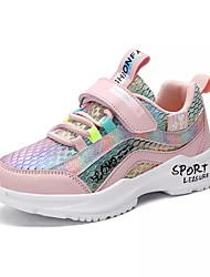 Недорогие -Девочки Удобная обувь Полиуретан Спортивная обувь Большие дети (7 лет +) Для прогулок Лиловый / Розовый Лето