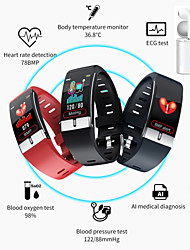 cheap -E66 Smartwatch Support Temperature/ ECG+PPG Measurement, Bluetooth Fitness Equipment for IOS/ Android Phones with TWS Headphones