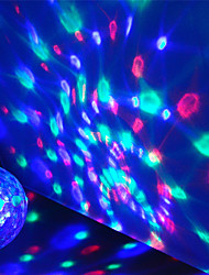 cheap -1X Mini USB Disco Light LED Party Lights Portable Crystal Magic Ball Colorful Effect Stage Lamp For Home Party Karaoke Decor (send random body color)
