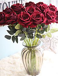 cheap -51cm Rose Wedding Supplies Simulation Flannel Flower Home Decoration 1 stick