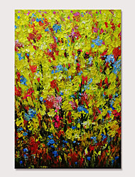 cheap -Mintura Hand Painted Abstract Flowers Oil Paintings on Canvas Modern Wall Picture Pop Art Posters For Home Decoration Ready To Hang