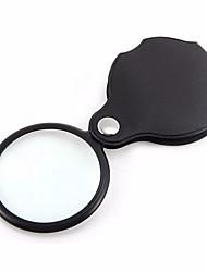 Недорогие -Портативный карманный складной 5x ювелирные изделия увеличительное стекло для глаз линзы лупа кожаный чехол инструмент чтения увеличить объектив