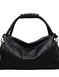 cheap -Women's Polyester / PU Top Handle Bag Leather Bags Solid Color Black / Brown / Gray / Fall & Winter