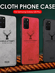 cheap -Deer Cloth Texture Case For Samsung Galaxy S20 Plus S20 Fabric Deer Patterned Back Cover For S20 Soft TPU Edge Protection