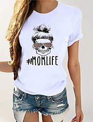 cheap -Women's Daily Basic Cotton T-shirt - Geometric Print Yellow