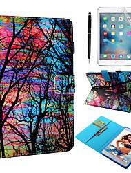 Недорогие -кейс&усилитель; Стилус&усилитель; 1 шт. Экран защиты для Apple Ipad Mini 12345 с подставкой / флип / ультратонкий задняя крышка небо / дерево искусственная кожа
