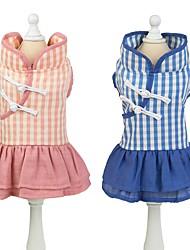 cheap -Dog Dress Dog Clothes Pink Blue Costume Husky Labrador Alaskan Malamute Cotton Stripes Vintage XS S M L XL