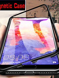 cheap -Magnetic Case For Samsung Galaxy A01 A51 A71 A91 Single Sided Magnetic Back Cover Solid Colored Tempered Glass Metal A40 A50 A70 A20E A10S A20S A30S A50S A70S A9 2018 A7 2018