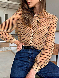 cheap -Women's Polka Dot Shirt Daily Khaki