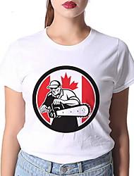 cheap -Women's Graphic Print T-shirt Daily White