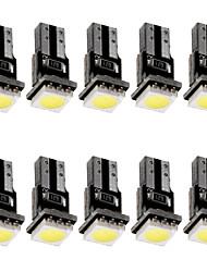 cheap -T5 Canbus LED Car Dashboard Indicator Gauge Light 12V DC LED Lamp Bulb White Color 10pcs