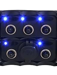 Недорогие -Автомобильный прикуриватель 15a / 5 комплектов тумблеров 12v группа держателей прикуривателя полный пансион / ip66 / с предохранителем 15a / черный / материал для защиты окружающей среды