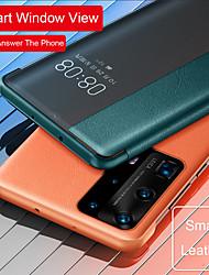 cheap -Smart Window View Flip Leather Case For Huawei P40 P40 Pro P30 Pro Mate 30 Pro Phone Case Auto Sleep Wake