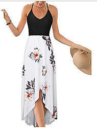 cheap -Women's White Black Dress Sheath Print S M