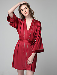 cheap -Normal Rayon Robes Touch of Sensation Letter Party / Evening Pattern / Print Elegant