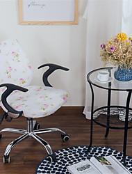 Недорогие -кремовый цветочный принт компьютер офисный стул крышка сплит защитная эластичная ткань полиэстер универсальный рабочий стол задачи чехлы на стулья стрейч сгущаться вращающийся стул чехол