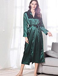 cheap -Women's Lace Chemises & Gowns Nightwear Solid Colored Wine Blushing Pink Green M L XL