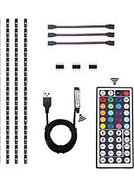 cheap -4*0.5M Flexible LED Light Strips / Light Sets /TV Background Light/ Car Light/RGB Strip Lights 36 LEDs SMD5050 10mm 1 44Keys Remote Controller 1 set Multi Color Waterproof / New Design / Decorative 5V