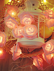 cheap -Battery Powered 2M  20 Led Rose Flower String Lights Wedding Home Birthday Valentine's Day Event Party Garland Luminaria