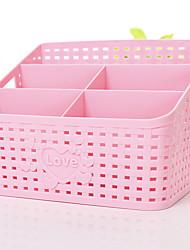 Недорогие -ящик для хранения косметики для рабочего стола среднего размера розовый синий