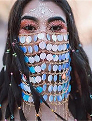 cheap -Alloy Face Chain Crystal / Rhinestone Style Decoration Half Face For Party Evening Holiday Luxury Boho Rainbow / Women's