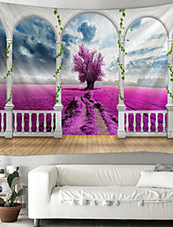cheap -Window Landscape Wall Tapestry Art Decor Blanket Curtain Picnic Tablecloth Hanging Home Bedroom Living Room Dorm Decoration Polyester Garden Rural Flower Tree