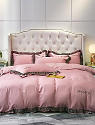 cheap -Goddess Small Money Lace Decorative Quilt Cover 4 Piece Embroidery Piece Bedding Plain Sheets