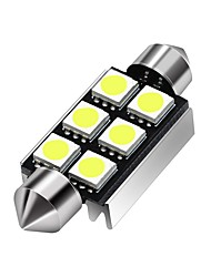 cheap -36mm 39mm 5050 C5W 6 LED Festoon Dome Light 12V DC Led Car Interior Reading Trunk lights Bulb White Warm White 2pcs