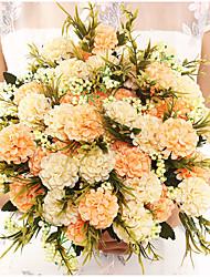 Недорогие -жемчужный шар хризантема ручной работы шелковый цветок растение букет украшение