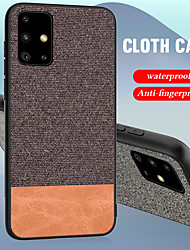 cheap -Luxury Cloth Fabric PU Leather Case For Samsung Galaxy S20 Ultra S20 Plus A51 A71 A81 S10 Plus S10e A90 A80 A70 A60 A50 A40 A30 A20 A10 A20e Case Soft TPU Edge Hard Cloth Protective Back Cover
