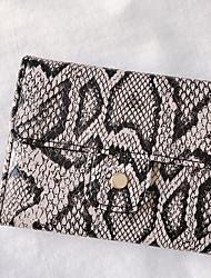 cheap -Women's PU Leather Wallet Snakeskin Khaki