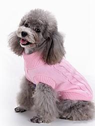 Недорогие -Собака Свитера Зима Одежда для собак Красный / Белый Темно-коричневый Желтый Костюм Смешанные материалы XS S L