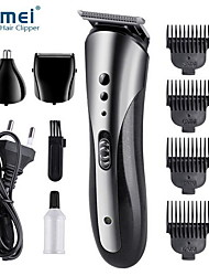 cheap -KEMEI All In1 Rechargeable Hair Clipper For Men Waterproof Wireless Electric Shaver Beard Nose Ear Shaver Hair Trimmer Tool Sale